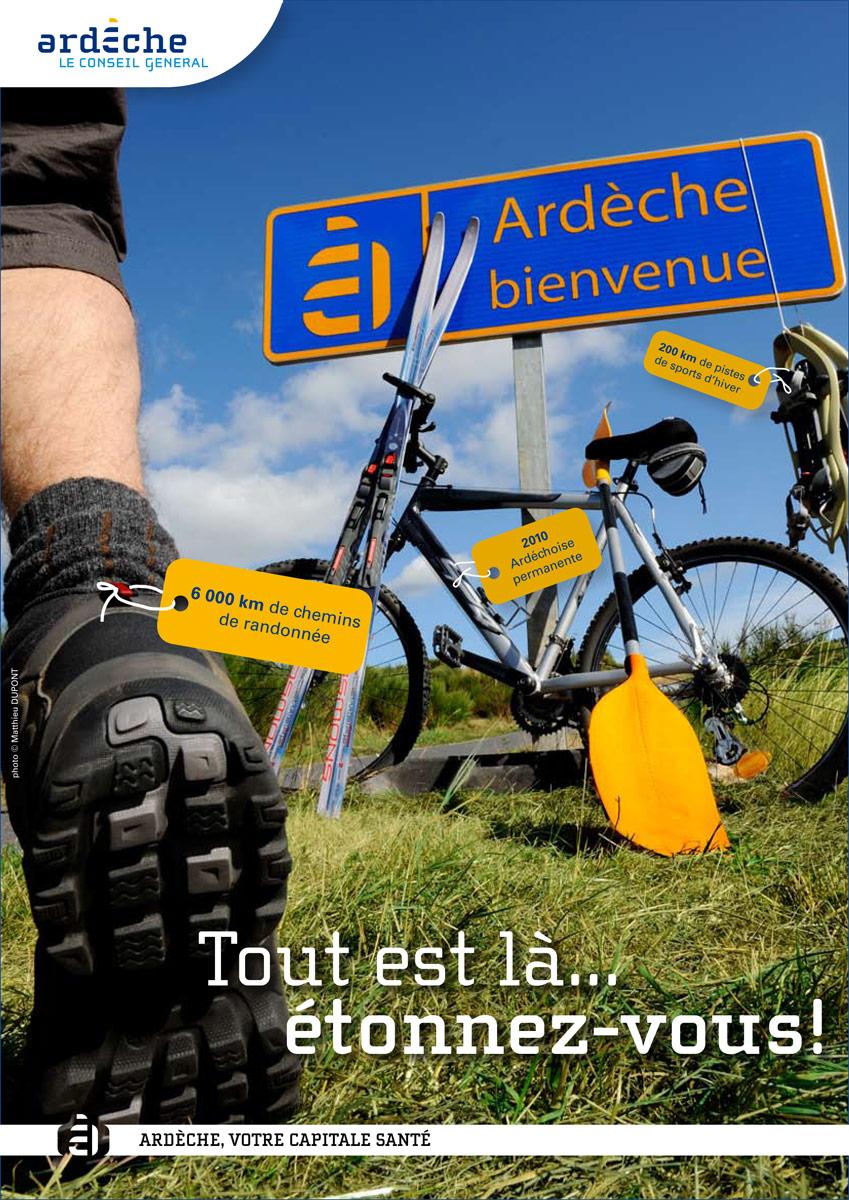 Visuel sur la pratique sportive en Ardèche