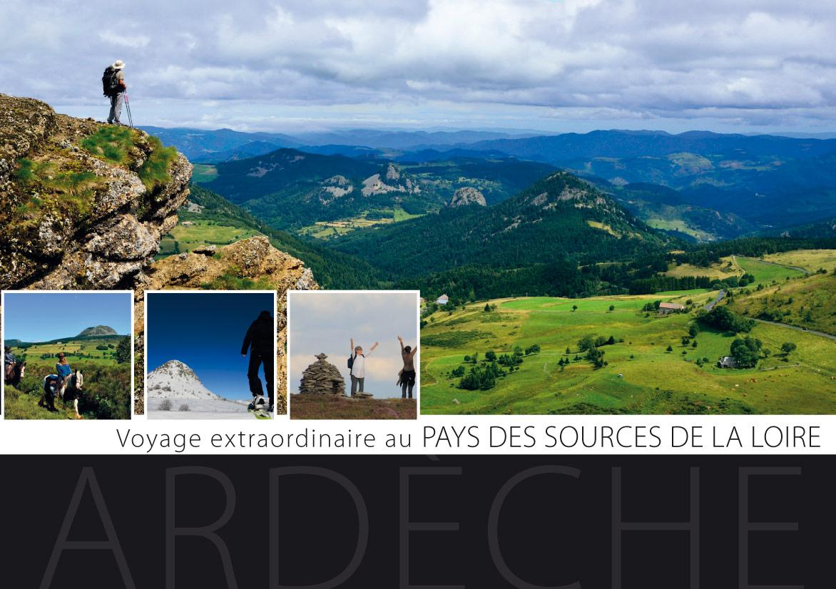 Brochure du Pays des Sources de la Loire ne Ardèche, avec des photographies de Matthieu Dupont