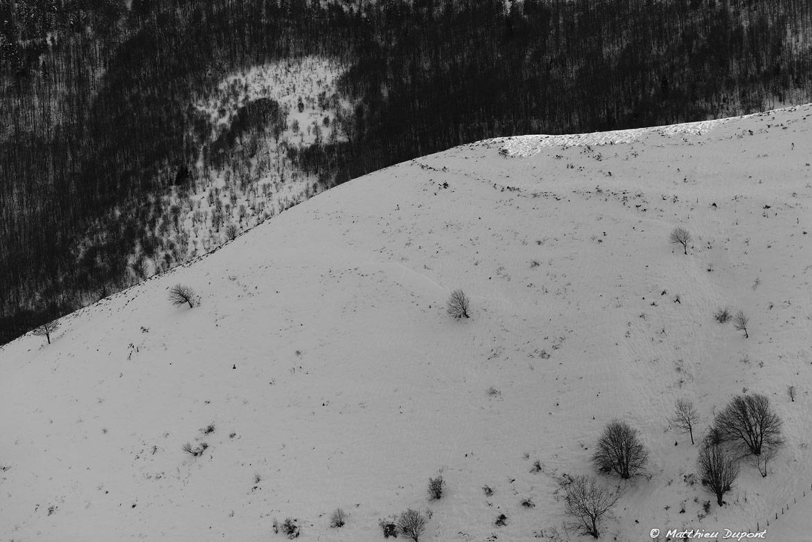 Mars 2013 - Les reliefs du plateau ardéchois vêtus de neige