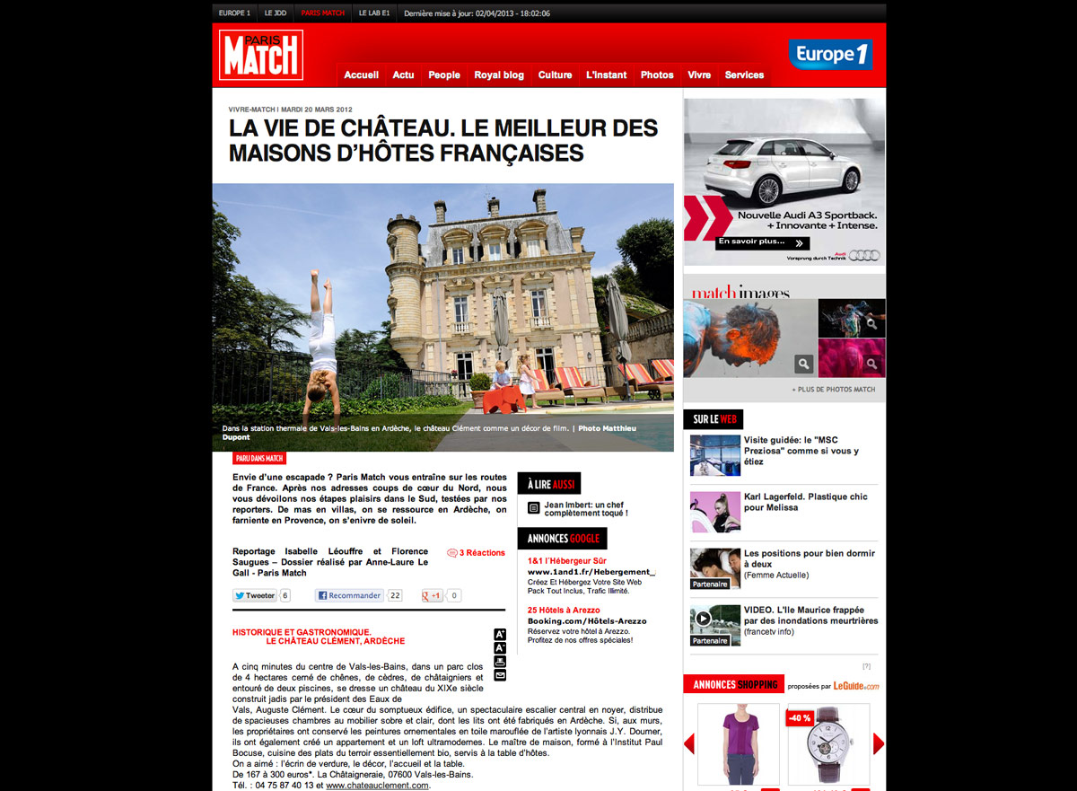 Site web de Paris Match