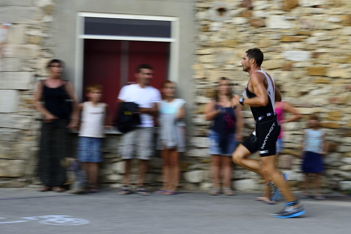 Triathlon des Gorges de l'Ardèche, distance S - Aiguèze, le 23 aout 2013