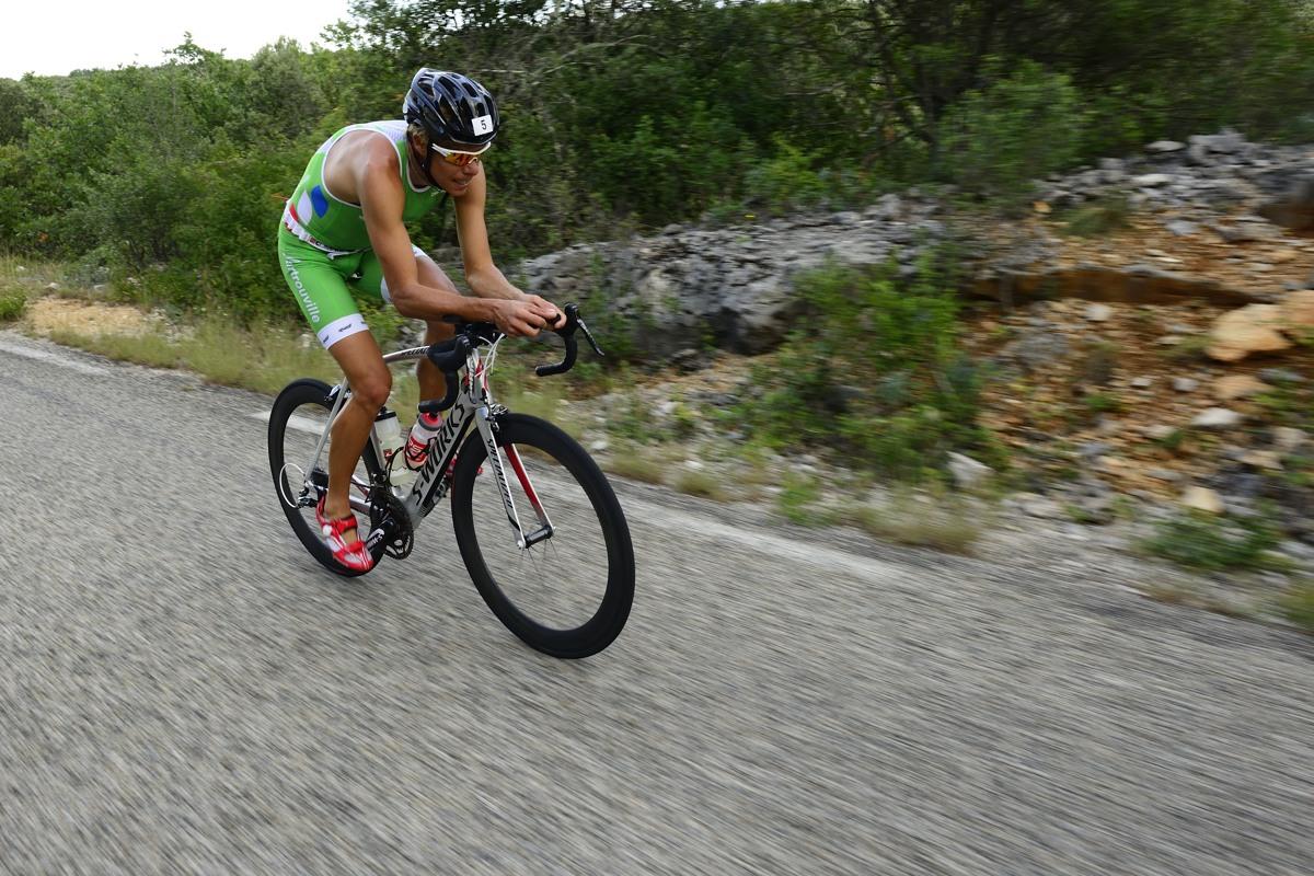 David Hauss, vainqueur du Triathlon des Gorges de l'Ardèche 2013