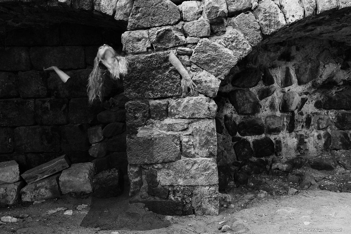 Les ruines de l'Abbaye de Mazan